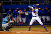 Florida Gators shortstop Richie Martin gets set for a pitch in the first inning.  Florida Gators vs Rhode Island Rays.  February 13th, 2015. Gator Country photo by David Bowie.