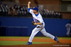 Florida Gators pitcher Eric Hanhold working in the eigth inning during Thursday nights Gators loss to the Auburn Tigers 4-1.  May 14th, 2015. Gator Country photo by David Bowie.