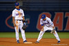 Florida Gators shortstop Richie Martin and Florida Gators infielder Dalton Guthrie look down during Thursday nights Gators loss to the Auburn Tigers 4-1.  May 14th, 2015. Gator Country photo by David Bowie.