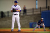 Florida Gators pitcher Logan Shore working in the fifth inning during Thursday nights Gators loss to the Auburn Tigers 4-1.  May 14th, 2015. Gator Country photo by David Bowie.