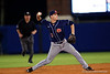 Auburn Tigers infielder Cody Nulph throws to first for an out during Thursday nights Gators loss to the Auburn Tigers 4-1.  May 14th, 2015. Gator Country photo by David Bowie.