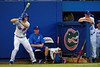 Florida Gators outfielder Ryan Larson waits on deck in the second innnig during Thursday nights loss to the Auburn Tigers 4-1.  May 14th, 2015. Gator Country photo by David Bowie.