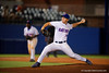 Florida Gators pitcher Bobby Poyner working in the eigth inning during Thursday nights Gators loss to the Auburn Tigers 4-1.  May 14th, 2015. Gator Country photo by David Bowie.
