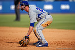 Florida Gators infielder Peter Alonso gets set at first base during Game 2 of the Super Regionals as the Florida Gators defeat the Florida State Seminoles 11-4.  June 6th, 2015. Gator Country photo by David Bowie.