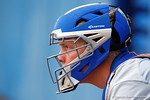 Florida Gators catcher JJ Schwarz during Game 2 of the Super Regionals as the Florida Gators defeat the Florida State Seminoles 11-4.  June 6th, 2015. Gator Country photo by David Bowie.
