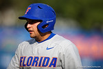 Florida Gators catcher Mike Rivera walks back to the dugout during Game 2 of the Super Regionals as the Florida Gators defeat the Florida State Seminoles 11-4.  June 6th, 2015. Gator Country photo by David Bowie.