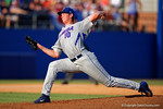 Florida Gators pitcher A.J. Puk working in the fourth inning during Game 2 of the Super Regionals as the Florida Gators defeat the Florida State Seminoles 11-4.  June 6th, 2015. Gator Country photo by David Bowie.