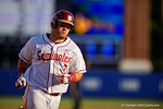 FSU Seminoles outfielder DJ Stewart homers in the fifth inning during Game 2 of the Super Regionals as the Florida Gators defeat the Florida State Seminoles 11-4.  June 6th, 2015. Gator Country photo by David Bowie.