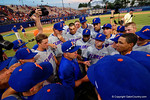 The Gators celebrate as they defeat the Florida State Seminoles 11-4 to advance to the College World Series for the first time since 2012.  June 6th, 2015. Gator Country photo by David Bowie.