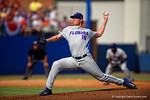 Florida Gators pitcher A.J. Puk working in the second inning during Game 2 of the Super Regionals as the Florida Gators defeat the Florida State Seminoles 11-4.  June 6th, 2015. Gator Country photo by David Bowie.