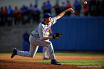Florida Gators pitcher A.J. Puk working in the fifth inning during Game 2 of the Super Regionals as the Florida Gators defeat the Florida State Seminoles 11-4.  June 6th, 2015. Gator Country photo by David Bowie.