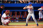 Florida Gators outfielder Harrison Bader steps up to the plate in the second inning during Game 2 of the Super Regionals as the Florida Gators defeat the Florida State Seminoles 11-4.  June 6th, 2015. Gator Country photo by David Bowie.