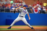 Florida Gators pitcher A.J. Puk working in the first inning during Game 2 of the Super Regionals as the Florida Gators defeat the Florida State Seminoles 11-4.  June 6th, 2015. Gator Country photo by David Bowie.