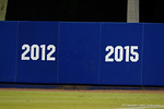 The 2015 is already up on the wall to commemorate the Gators going to the College World Series as the Gators celebrate as they defeat the Florida State Seminoles 11-4 to advance to the College World Series for the first time since 2012.  June 6th, 2015. Gator Country photo by David Bowie.