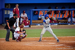 Florida Gators shortstop Richie Martin steps to the plate in the seventh inning during Game 2 of the Super Regionals as the Florida Gators defeat the Florida State Seminoles 11-4.  June 6th, 2015. Gator Country photo by David Bowie.