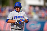 Florida Gators 1B/OF Jeremy Vasquez stands on first base in the second inning during Game 2 of the Super Regionals as the Florida Gators defeat the Florida State Seminoles 11-4.  June 6th, 2015. Gator Country photo by David Bowie.