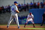 Florida Gators pitcher Bobby Poyner pitching in the fifth inning during Game 2 of the Super Regionals as the Florida Gators defeat the Florida State Seminoles 11-4.  June 6th, 2015. Gator Country photo by David Bowie.