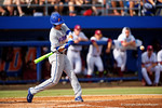 Florida Gators infielder Dalton Guthrie swings at a pitch in the second inning during Game 2 of the Super Regionals as the Florida Gators defeat the Florida State Seminoles 11-4.  June 6th, 2015. Gator Country photo by David Bowie.