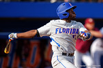 Florida Gators infielder Josh Tobias looks on as he pops the ball up to center field in the third inning during Game 2 of the Super Regionals as the Florida Gators defeat the Florida State Seminoles 11-4.  June 6th, 2015. Gator Country photo by David Bowie.