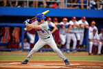 Florida Gators outfielder Harrison Bader at the plate in the first inning during Game 2 of the Super Regionals as the Florida Gators defeat the Florida State Seminoles 11-4.  June 6th, 2015. Gator Country photo by David Bowie.