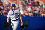 Florida Gators pitcher A.J. Puk walks off the field after retiring FSU in the third inning during Game 2 of the Super Regionals as the Florida Gators defeat the Florida State Seminoles 11-4.  June 6th, 2015. Gator Country photo by David Bowie.