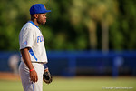 Florida Gators infielder Josh Tobias looks on from third base in the fifth inning during Game 2 of the Super Regionals as the Florida Gators defeat the Florida State Seminoles 11-4.  June 6th, 2015. Gator Country photo by David Bowie.