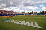 Pre-Game preparations during Game 2 of the Super Regionals as the Florida Gators defeat the Florida State Seminoles 11-4.  June 6th, 2015. Gator Country photo by David Bowie.