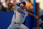 Florida Gators pitcher Bobby Poyner pitching in the sixth inning during Game 2 of the Super Regionals as the Florida Gators defeat the Florida State Seminoles 11-4.  June 6th, 2015. Gator Country photo by David Bowie.