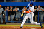 Florida Gators outfielder Buddy Reed swings at a pitch.  Florida Gators Baseball vs South Carolina Gamecocks.  April 10th, 2015. Gator Country photo by David Bowie.