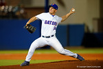 Florida Gators pitcher Bobby Poyner throws to the plate.  Florida Gators Baseball vs South Carolina Gamecocks.  April 10th, 2015. Gator Country photo by David Bowie.