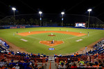 An overview of McKethan Stadium.  Florida Gators Baseball vs South Carolina Gamecocks.  April 10th, 2015. Gator Country photo by David Bowie.