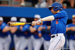 Florida Gators shortstop Dalton Guthrie swings away as the No. 1 overall seed Florida Gators conclude their opening sweep of the Gainesville Regional by beating Georgia Tech 10-1 in the final at McKethan Stadium.  June 5th, 2016. Gator Country photo by David Bowie.