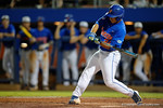 Florida Gators outfielder Jeremy Vasquez comes in as a pitch hitter, as the No. 1 overall seed Florida Gators conclude their opening sweep of the Gainesville Regional by beating Georgia Tech 10-1 in the final at McKethan Stadium.  June 5th, 2016. Gator Country photo by David Bowie.