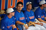 Florida Gators outfielder Jeremy Vasquez as the No. 1 overall seed Florida Gators conclude their opening sweep of the Gainesville Regional by beating Georgia Tech 10-1 in the final at McKethan Stadium.  June 5th, 2016. Gator Country photo by David Bowie.