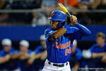 Florida Gators outfielder Buddy Reed steps to the plate, as the No. 1 overall seed Florida Gators conclude their opening sweep of the Gainesville Regional by beating Georgia Tech 10-1 in the final at McKethan Stadium.  June 5th, 2016. Gator Country photo by David Bowie.