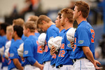 Florida Gators pitcher Shaun Anderson and the Gators during the National Anthem as the No. 1 overall seed Florida Gators conclude their opening sweep of the Gainesville Regional by beating Georgia Tech 10-1 in the final at McKethan Stadium.  June 5th, 2016. Gator Country photo by David Bowie.