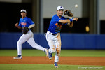 Florida Gators third baseman Jonathan India throws to first for an out, as the No. 1 overall seed Florida Gators conclude their opening sweep of the Gainesville Regional by beating Georgia Tech 10-1 in the final at McKethan Stadium.  June 5th, 2016. Gator Country photo by David Bowie.