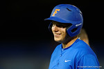 Florida Gators outfielder Danny Reyes singles, as the No. 1 overall seed Florida Gators conclude their opening sweep of the Gainesville Regional by beating Georgia Tech 10-1 in the final at McKethan Stadium.  June 5th, 2016. Gator Country photo by David Bowie.