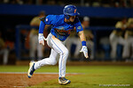 Florida Gators second baseman Deacon Liput sprints toward first base, as the No. 1 overall seed Florida Gators conclude their opening sweep of the Gainesville Regional by beating Georgia Tech 10-1 in the final at McKethan Stadium.  June 5th, 2016. Gator Country photo by David Bowie.
