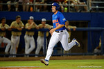 Florida Gators outfielder Danny Reyes runs down the third base line to score, as the No. 1 overall seed Florida Gators conclude their opening sweep of the Gainesville Regional by beating Georgia Tech 10-1 in the final at McKethan Stadium.  June 5th, 2016. Gator Country photo by David Bowie.