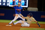 Florida Gators shortstop Dalton Guthrie throws to first after taggin second, as the No. 1 overall seed Florida Gators conclude their opening sweep of the Gainesville Regional by beating Georgia Tech 10-1 in the final at McKethan Stadium.  June 5th, 2016. Gator Country photo by David Bowie.