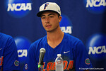 Florida Gators third baseman Jonathan India at the post-game press conference, as the No. 1 overall seed Florida Gators conclude their opening sweep of the Gainesville Regional by beating Georgia Tech 10-1 in the final at McKethan Stadium.  June 5th, 2016. Gator Country photo by David Bowie.