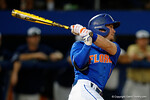 Florida Gators second baseman Deacon Liput swinging away as the No. 1 overall seed Florida Gators conclude their opening sweep of the Gainesville Regional by beating Georgia Tech 10-1 in the final at McKethan Stadium.  June 5th, 2016. Gator Country photo by David Bowie.