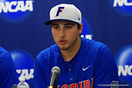 Florida Gators pitcher Alex Faedo at the post-game press conference, as the No. 1 overall seed Florida Gators conclude their opening sweep of the Gainesville Regional by beating Georgia Tech 10-1 in the final at McKethan Stadium.  June 5th, 2016. Gator Country photo by David Bowie.