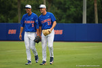 Florida Gators pitcher Dane Dunning and Florida Gators pitcher Shaun Anderson as the No. 1 overall seed Florida Gators conclude their opening sweep of the Gainesville Regional by beating Georgia Tech 10-1 in the final at McKethan Stadium.  June 5th, 2016. Gator Country photo by David Bowie.