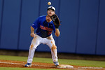 Florida Gators first baseman Peter Alonso catches the throw at first for an out, as the No. 1 overall seed Florida Gators conclude their opening sweep of the Gainesville Regional by beating Georgia Tech 10-1 in the final at McKethan Stadium.  June 5th, 2016. Gator Country photo by David Bowie.