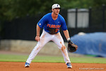 Florida Gators first baseman Peter Alonso getting set at first as the No. 1 overall seed Florida Gators conclude their opening sweep of the Gainesville Regional by beating Georgia Tech 10-1 in the final at McKethan Stadium.  June 5th, 2016. Gator Country photo by David Bowie.
