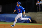 Florida Gators catcher JJ Schwarz doubles as the No. 1 overall seed Florida Gators conclude their opening sweep of the Gainesville Regional by beating Georgia Tech 10-1 in the final at McKethan Stadium.  June 5th, 2016. Gator Country photo by David Bowie.