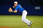 Florida Gators second baseman Deacon Liput field the ball and throws to first for an out, as the No. 1 overall seed Florida Gators conclude their opening sweep of the Gainesville Regional by beating Georgia Tech 10-1 in the final at McKethan Stadium.  June 5th, 2016. Gator Country photo by David Bowie.