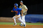 Florida Gators infielder Nelson Maldonado doubles as the No. 1 overall seed Florida Gators conclude their opening sweep of the Gainesville Regional by beating Georgia Tech 10-1 in the final at McKethan Stadium.  June 5th, 2016. Gator Country photo by David Bowie.